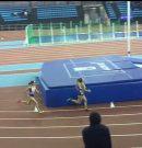 Andrea Pino vuela en Gallur.