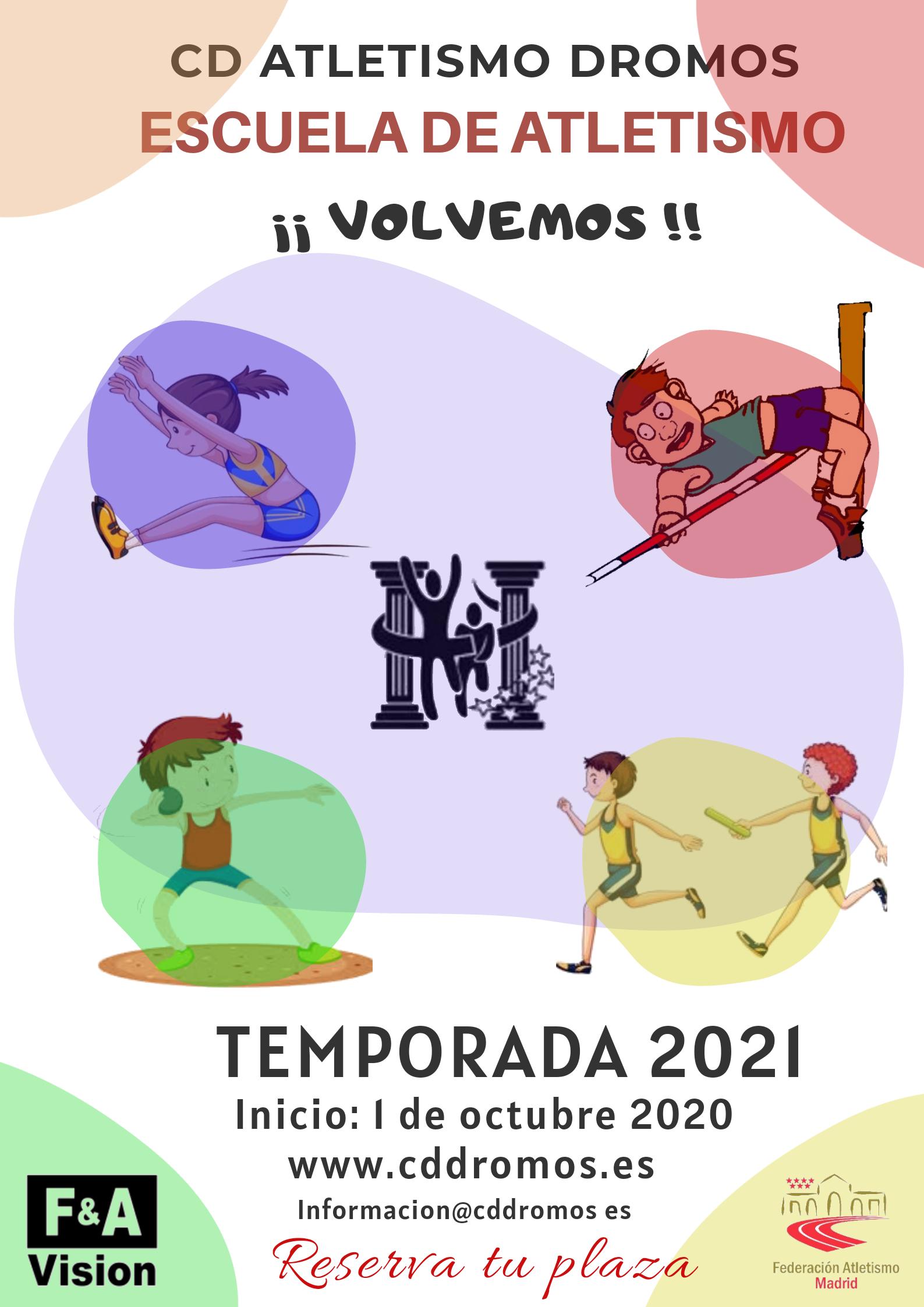 ESCUELA TEMPORADA 2020/2021. INSCRIPCIONES A PARTIR DEL 15 DE SEPTIEMBRE.